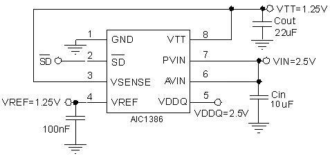 集成电路(ic)-aic1386 台湾沛亨aic原厂分销,提供技术